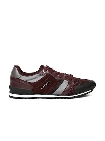 Tommy Hilfiger Men Burgundy tmFINSTA Sneakers Tommy Hilfiger Casual Shoes at myntra