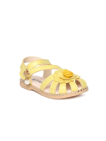 Kittens Girls Yellow Fisherman Sandals Kittens Sandals at myntra