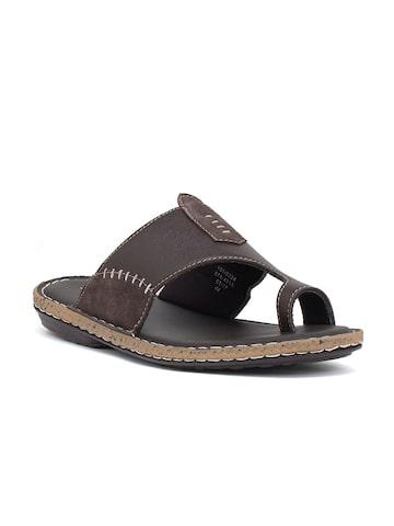 Bata Men Brown Comfort Sandals Bata Sandals at myntra