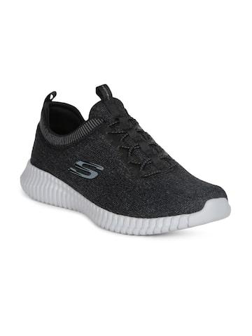 Skechers Men Charcoal ELITE FLEX- HARTNELL Sports Shoes Skechers Sports Shoes at myntra