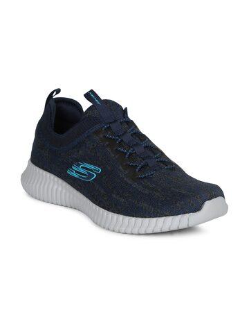 Skechers Men Navy Blue ELITE FLEX- HARTNELL Sports Shoes Skechers Sports Shoes at myntra