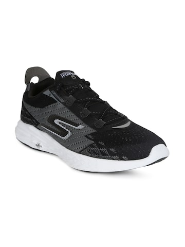 Skechers Men Black GO RUN 5 Running Shoes Skechers Sports Shoes at myntra