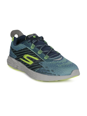 Skechers Men Blue GO RUN 5 Running Shoes Skechers Sports Shoes at myntra