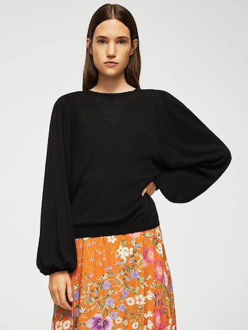 MANGO Women Black Solid Sweater MANGO Sweaters at myntra