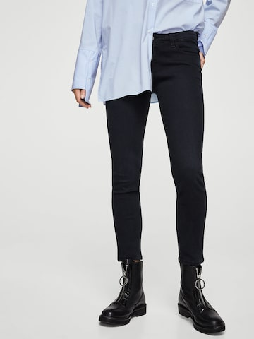 MANGO Women Navy Blue Regular Fit Mid-Rise Clean Look Stretchable Jeans MANGO Jeans at myntra