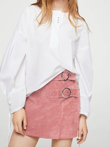 MANGO Dusty Pink Mini Straight Skirt MANGO Skirts at myntra