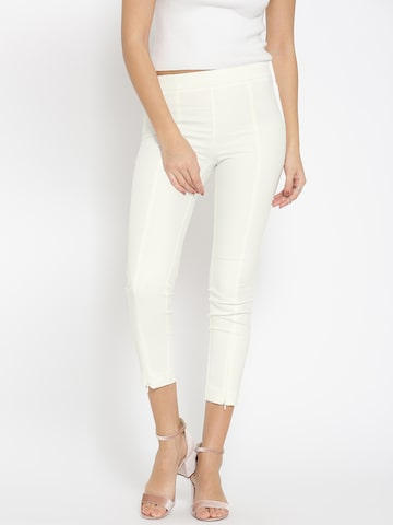MANGO White Treggings MANGO Jeggings at myntra