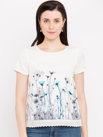Jealous 21 Women Off-White Printed Top Jealous 21 Tops at myntra