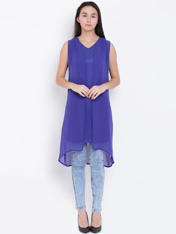 Jealous 21 Women Blue Layered Solid Top Jealous 21 Tops at myntra