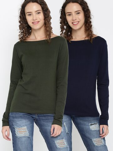 Dressberry Pack of 2 T-shirts DressBerry Tshirts at myntra
