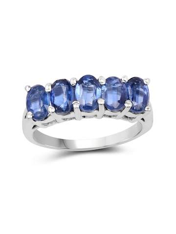 Johareez Blue Sterling Silver Ring with 3.25CTW Genuine Kyanite Stones Johareez Ring at myntra
