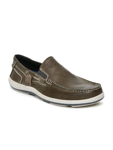 U.S. Polo Assn. Men Taupe Ken Leather Slip-On Sneakers U.S. Polo Assn. Casual Shoes at myntra