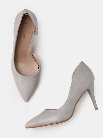 DressBerry Women Grey Solid Pumps DressBerry Heels at myntra