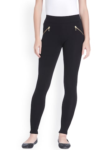ONLY Women Black Treggings ONLY Jeggings at myntra