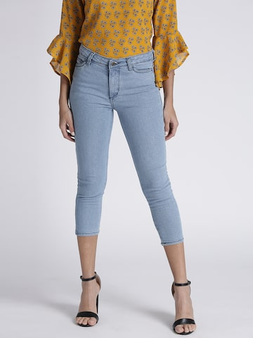 Chemistry Women Blue Mid-Rise Clean Look Cropped Stretchable Jeans Chemistry Jeans at myntra