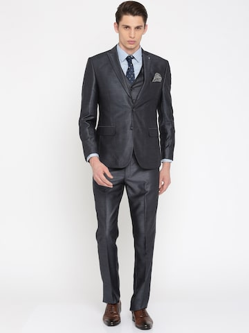 Peter England Blue Euro Fit Single-Breasted Suit Peter England Suits at myntra