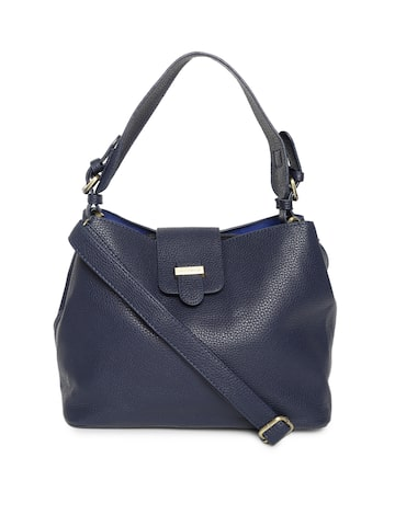 Lisa Haydon for Lino Perros Navy Blue Solid Shoulder Bag Lino Perros Handbags at myntra