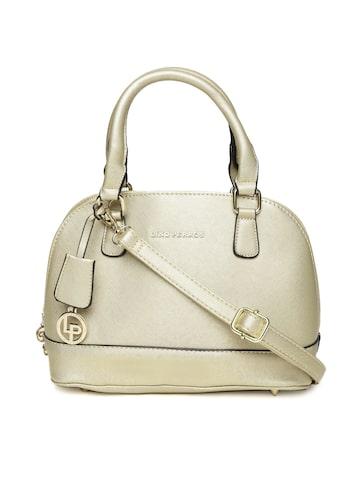 Lisa Haydon for Lino Perros  Gold-Toned Solid Handheld Bag Lino Perros Handbags at myntra