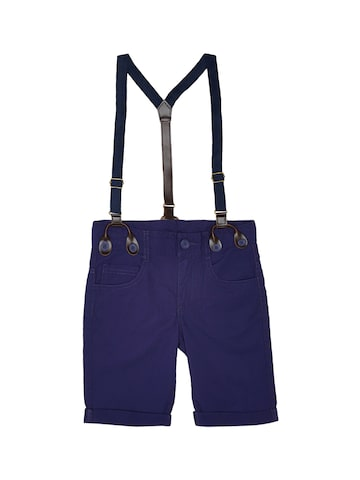 United Colors of Benetton Boys Navy Blue Solid Regular Fit Regular Shorts United Colors of Benetton Shorts at myntra