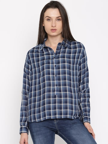 Flying Machine Women Blue Shirt Flying Machine Shirts at myntra