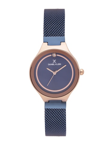 Daniel Klein Premium Women Navy Blue Analogue Watch DK11468-5 Daniel Klein Watches at myntra