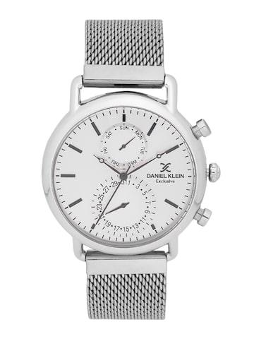 Daniel Klein Exclusive Men Silver-Toned Multifunction Watch DK11479-4 Daniel Klein Watches at myntra