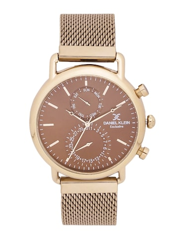 Daniel Klein Exclusive Men Brown Multifunction Watch DK11479-6 Daniel Klein Watches at myntra