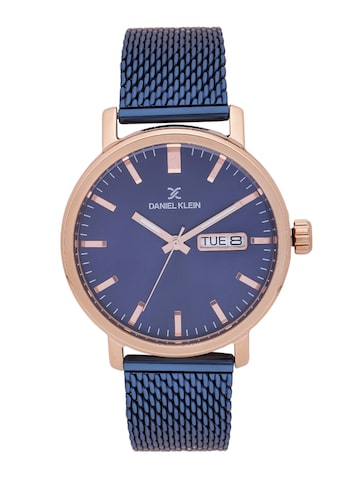 Daniel Klein Premium Men Navy Analogue Watch DK11480-2 Daniel Klein Watches at myntra