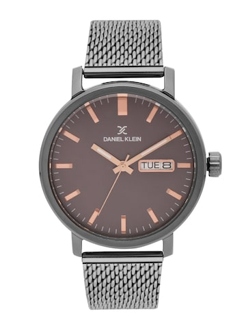 Daniel Klein Men Charcoal Grey Analogue Watch DK11480-7 Daniel Klein Watches at myntra