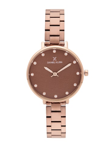 Daniel Klein Women Brown Analogue Watch DK11463-6 Daniel Klein Watches at myntra