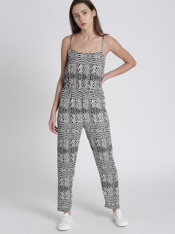 Chemistry Grey & White Printed Jumpsuit Chemistry Jumpsuit at myntra