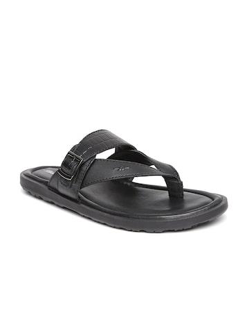 Bata Men Black Comfort Sandals Bata Sandals at myntra