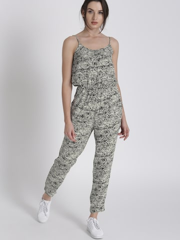 Chemistry White & Black Printed Basic Jumpsuit Chemistry Jumpsuit at myntra