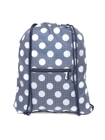 Adidas NEO Women Navy Blue & Off-White GS Daily Geometric Backpack Adidas NEO Backpacks at myntra