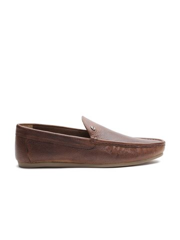 Carlton London Men Brown Leather Loafers Carlton London Casual Shoes at myntra