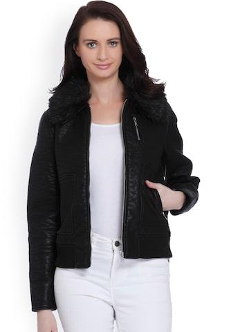 Vero Moda Women Black Solid Parka Jacket Vero Moda Jackets at myntra