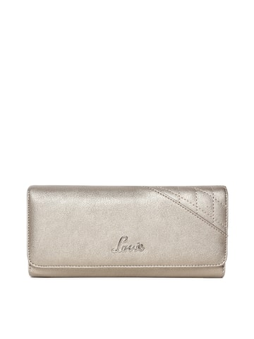 Lavie Women Copper-Toned Solid Three Fold Wallet Lavie Wallets at myntra