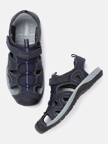 Roadster Men Navy Sports Sandals Roadster Sports Sandals at myntra