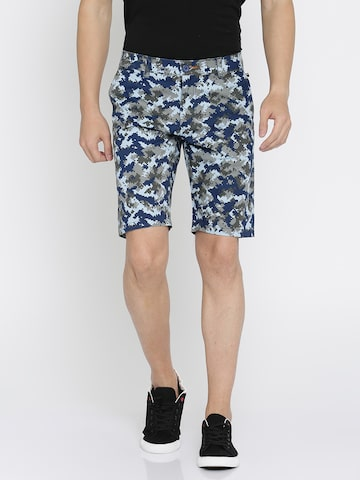 The Indian Garage Co Men Grey Printed Slim Fit Chino Shorts The Indian Garage Co Shorts at myntra