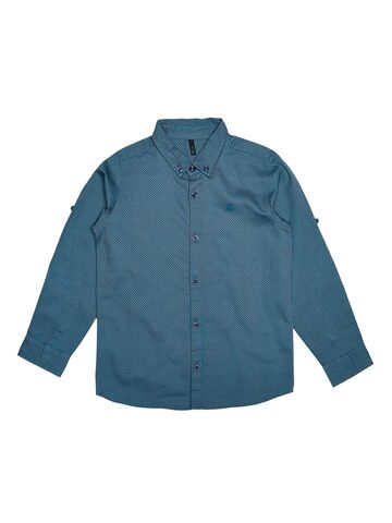 United Colors of Benetton Boys Teal Regular Fit Solid Casual Shirt United Colors of Benetton Shirts at myntra