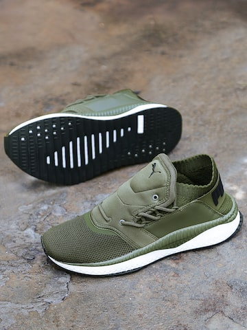 Puma Men Olive Green Sneakers Puma Casual Shoes at myntra