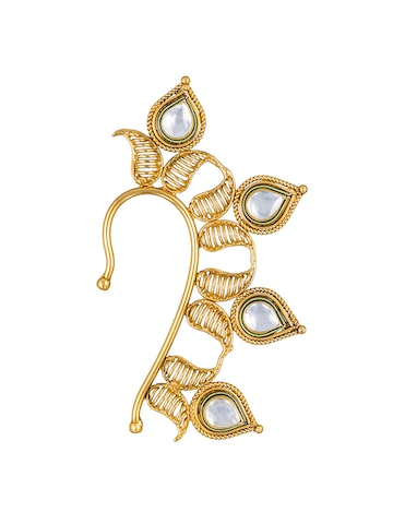 Sia Art Jewellery Gold-Toned Paisley Shaped Ear Cuff Sia Art Jewellery Earrings at myntra