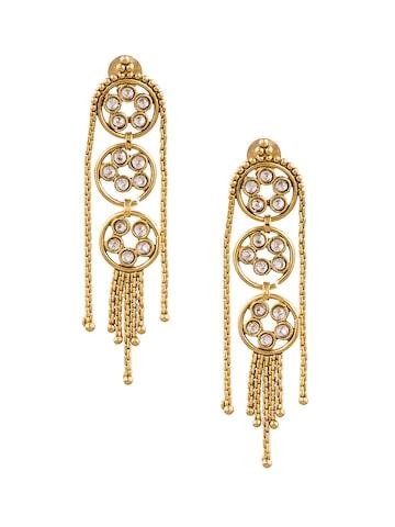 Sia Art Jewellery Gold-Toned Circular Earrings Sia Art Jewellery Earrings at myntra