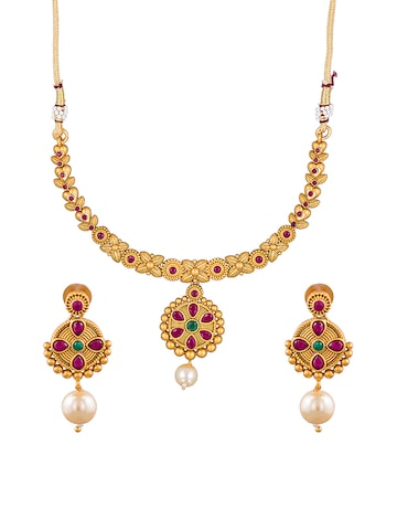 Sia Art Jewellery Gold-Plated Jewellery Set Sia Art Jewellery Jewellery Set at myntra