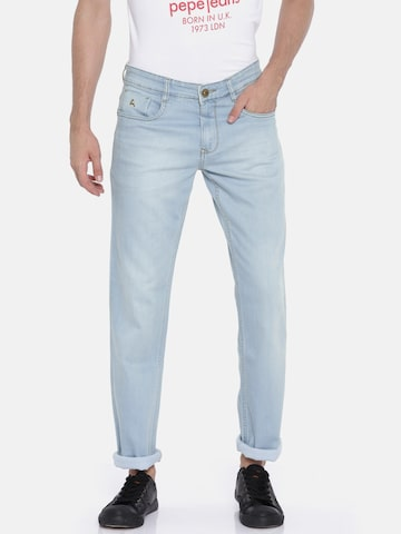 Parx Men Blue Regular Fit Mid-Rise Clean Look Stretchable Jeans Parx Jeans at myntra