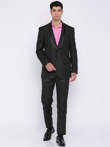 Peter England Black Euro Fit Single-Breasted Tuxedo Peter England Suits at myntra
