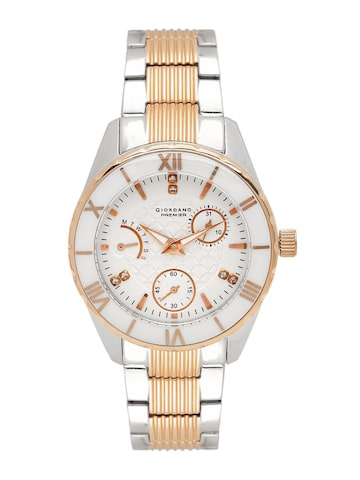 GIORDANO Women Off-White Multifunction Watch GIORDANO Watches at myntra