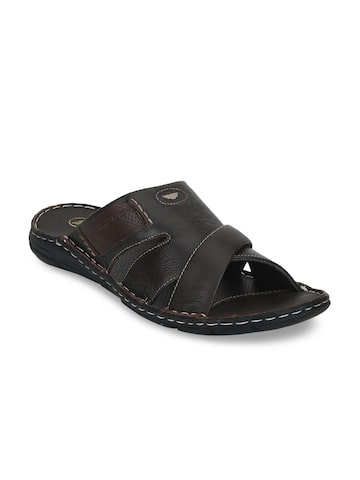 Red Tape Men Brown Leather Sandals Red Tape Sandals at myntra
