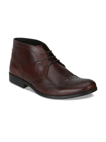 Red Tape Men Brown Leather Formal Boots Red Tape Formal Shoes at myntra