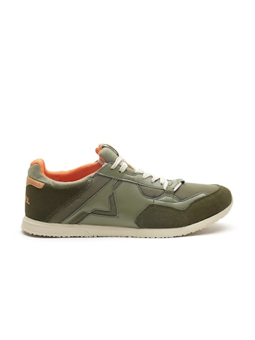 DIESEL Men Olive Green Sneakers DIESEL Casual Shoes at myntra